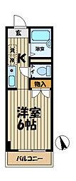 リヴェラ鎌倉[205号室]の間取り