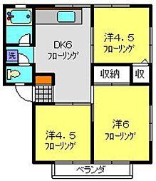 ハイツマルカ[2階]の間取り