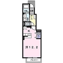 愛知県豊田市竜神町飛越の賃貸アパートの間取り