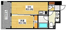 ルネッサンス21博多[3階]の間取り