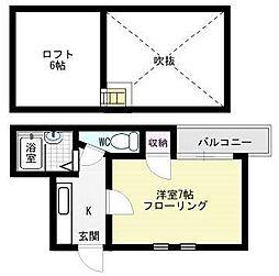 フラワーマンション(清川)[303号室]の間取り
