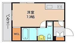東京メトロ東西線 浦安駅 徒歩11分の賃貸アパート 1階ワンルームの間取り