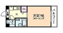 ブルグリンコート梅田北[2階]の間取り