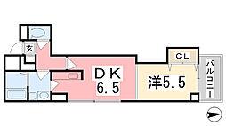 スタシオン[3階]の間取り