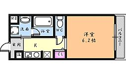 カーライル堺市駅前[7階]の間取り