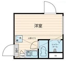 JR総武線 大久保駅 徒歩8分の賃貸マンション 2階ワンルームの間取り