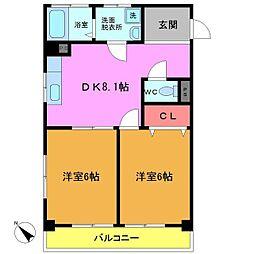 菅野マンション[205号室]の間取り