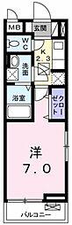 東京都昭島市緑町1の賃貸アパートの間取り