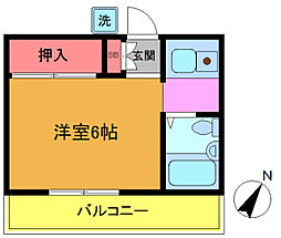 千葉県市川市押切の賃貸アパートの間取り