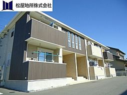 愛知県豊橋市東岩田2丁目の賃貸アパートの外観