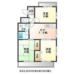新桜アパート[302号室]の間取り