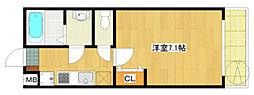 第116新井ビル[302号室]の間取り
