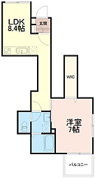 カンフルツリーハウス[1階]の間取り
