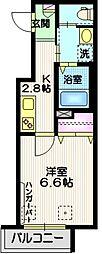 (仮称)大井4丁目メゾン 3階1Kの間取り