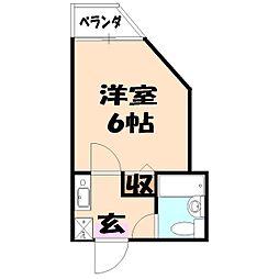 メゾンロワール横浜[101号室]の間取り
