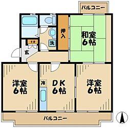 パレシャローム[2階]の間取り