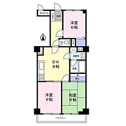ライオンズマンション青葉台 第2[5階]の間取り