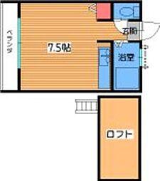ソレイユ七隈I[102号室]の間取り