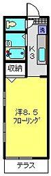 神奈川県横浜市港南区大久保1丁目の賃貸アパートの間取り