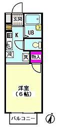 カーサOSAKABE[102号室]の間取り