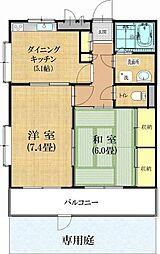 東京都羽村市富士見平1の賃貸マンションの間取り