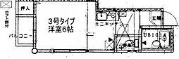 MEYOU箱崎宮前[203号室]の間取り