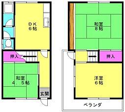 [一戸建] 兵庫県高砂市時光寺町 の賃貸【/】の間取り