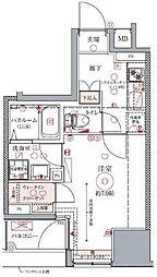 ドムス・スタイル銀座東 4階1Kの間取り