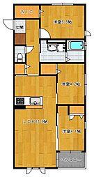 仮)野芥4丁目新築オートロック付アパート[202号室]の間取り