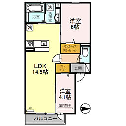 Osaka Metro御堂筋線 北花田駅 徒歩24分の賃貸アパート 2階2LDKの間取り