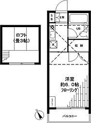 コーポ芦沢[2階]の間取り