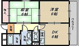 アベニール堺駅前[3階]の間取り