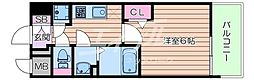 Osaka Metro谷町線 都島駅 徒歩7分の賃貸マンション 7階1Kの間取り