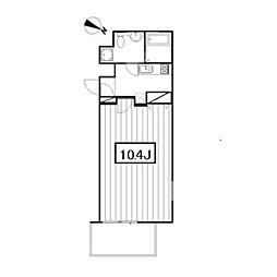 Art Terrace HATSUDAI[4階]の間取り