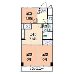 大谷マンション[303号室]の間取り