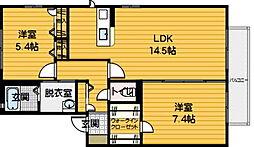 ディアス平尾[2階]の間取り