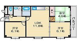 ラ・メゾン・ブリエ 4階3LDKの間取り