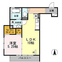 セジュール武蔵新城[105号室]の間取り