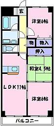 さんさん北野田[2階]の間取り