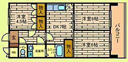 529-7森ビル[4階]の間取り