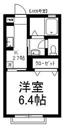 MAST レジデンスフジヨシJ[203号室]の間取り