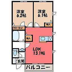 [一戸建] 栃木県小山市大字間々田 の賃貸【/】の間取り