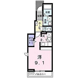 愛知県豊橋市一色町字一色上の賃貸アパートの間取り