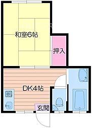第二寺田マンション[3階]の間取り