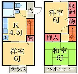 [テラスハウス] 千葉県市原市五所 の賃貸【/】の間取り