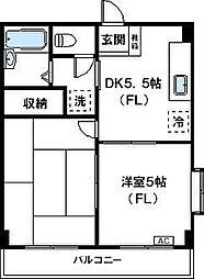 神奈川県川崎市高津区北見方3丁目の賃貸マンションの間取り