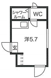 PROTO渋谷神泉II 2階ワンルームの間取り