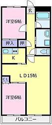 エスト深井[4階]の間取り