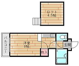 コスモレジデンス北加賀屋II[3階]の間取り