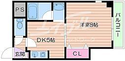 メゾン・ド・フレシェール 7階1DKの間取り